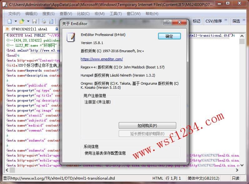 EmEditor v19.6.0 简体中文版及注册码-风刑软件站